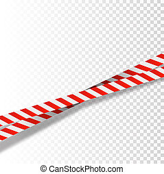 Red and white stripes set. Warning tapes. Danger signs. Caution ,Barricade tape, Do not cross, police, scene barrier tape.