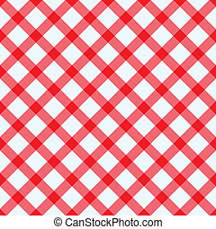 Red and white tablecloth - Red and white checked tablecloth