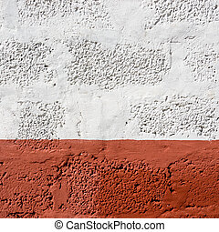 Red and white wall texture