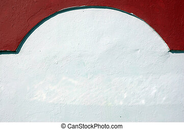red and white walls