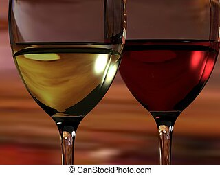 Red And White wine - CDlose up of red and white wine