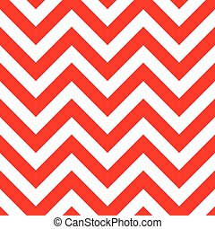 Red and White Zigzag Seamless Pattern