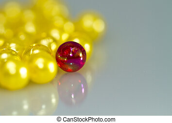 Red and Yellow Beads Abstract II