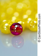 Red and Yellow Beads Background