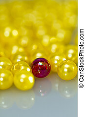 Red and Yellow Beads Background II