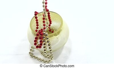 red and yellow beads