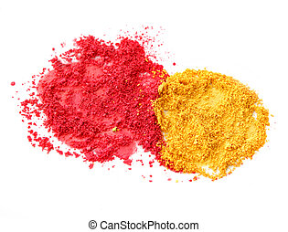 Red and yellow color powder