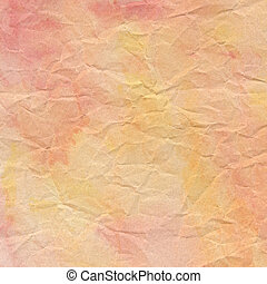 Red and yellow crumpled paper for background