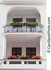 flowerbeds at balcony residential house