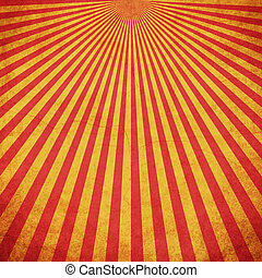 Red and Yellow grunge sunburst vintage background with space