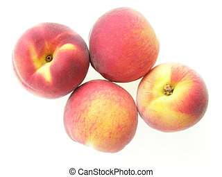 red and yellow peach - Close-up of delicious red and yellow...