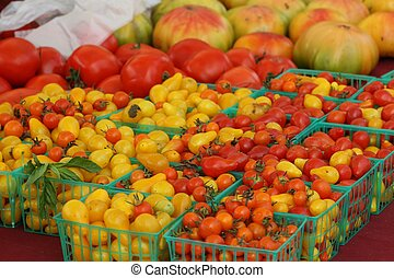 Red and Yellow Tomatoes