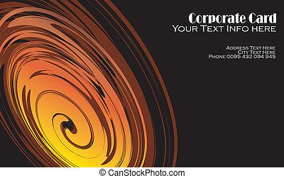 Vortex effect Business card