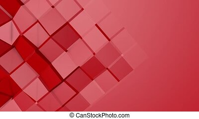 Red animated low poly. 3d rendering - Red animated low poly...