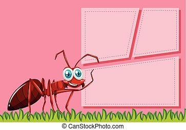 Red ant frame scene