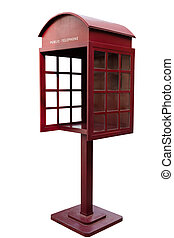 Red Antique phone booth