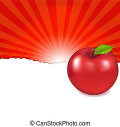 Red Apple And Sunburst