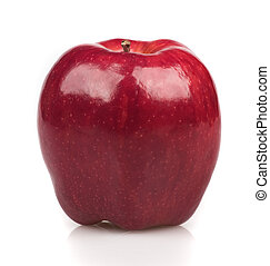 Beautiful issolated red apple on white background