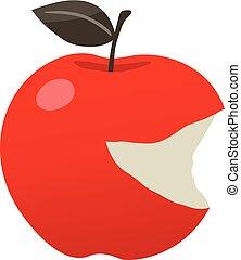 Red Apple Bitten Smiley