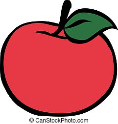 Red Apple cartoon style