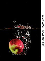 ed apple fell into the water