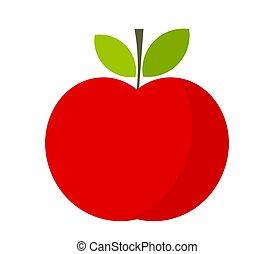 Red apple, flat design icon
