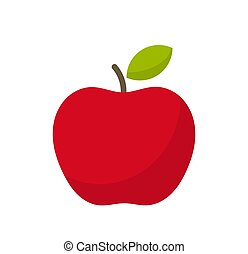 Red apple fruit icon.