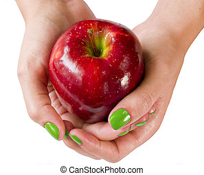 Red Apple Green Nails