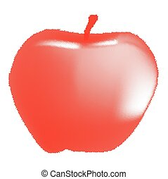 Red Apple Halftone