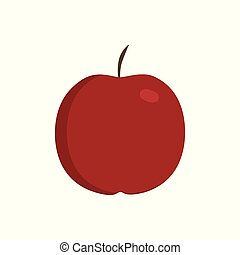 Red apple icon in flat design