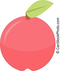 Red apple icon, isometric style