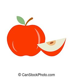 Red apple icon vector illustration on white background
