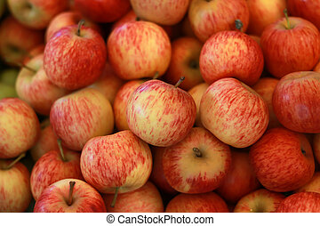 Red apple in busket