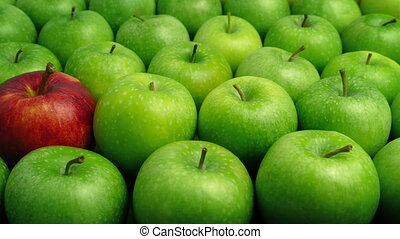 Red Apple In Green Apples - Individual Concept - Red apple ...