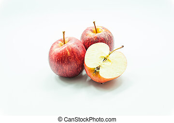 Red apple isolate on white background