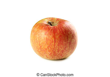Red apple isolated on a white