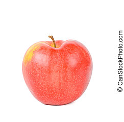 Red apple. Isolated on white background.