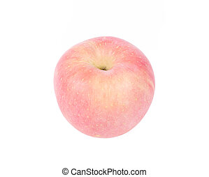 Red apple, isolated on white background