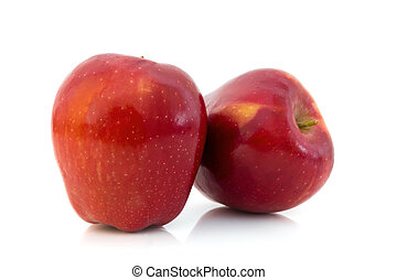 Red apple, isolated on white background .