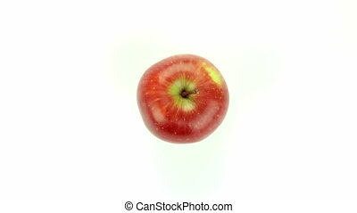 Red apple - isolated on white background