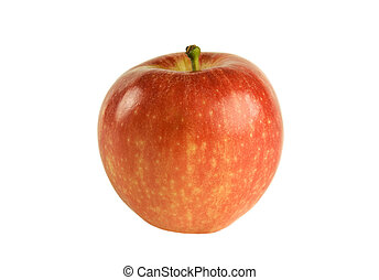 Red apple isolated on white.