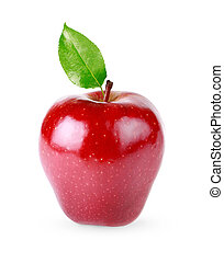 Red apple isolated