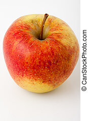 red apple on a white background