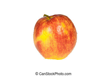 Red apple on white background