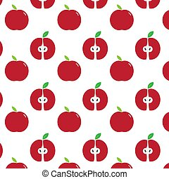 red apple pattern. background vector design illustration
