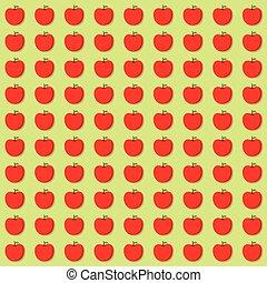 red apple pattern design