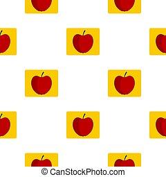 Red apple pattern flat
