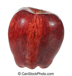 Red Apple - A stock photo of a red apple set against a white...