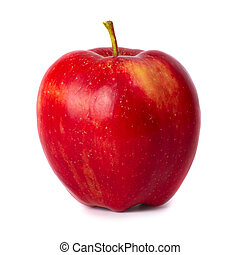 Red apple - Red fresh apple isolated on white background