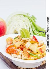 Red apple salad thai food